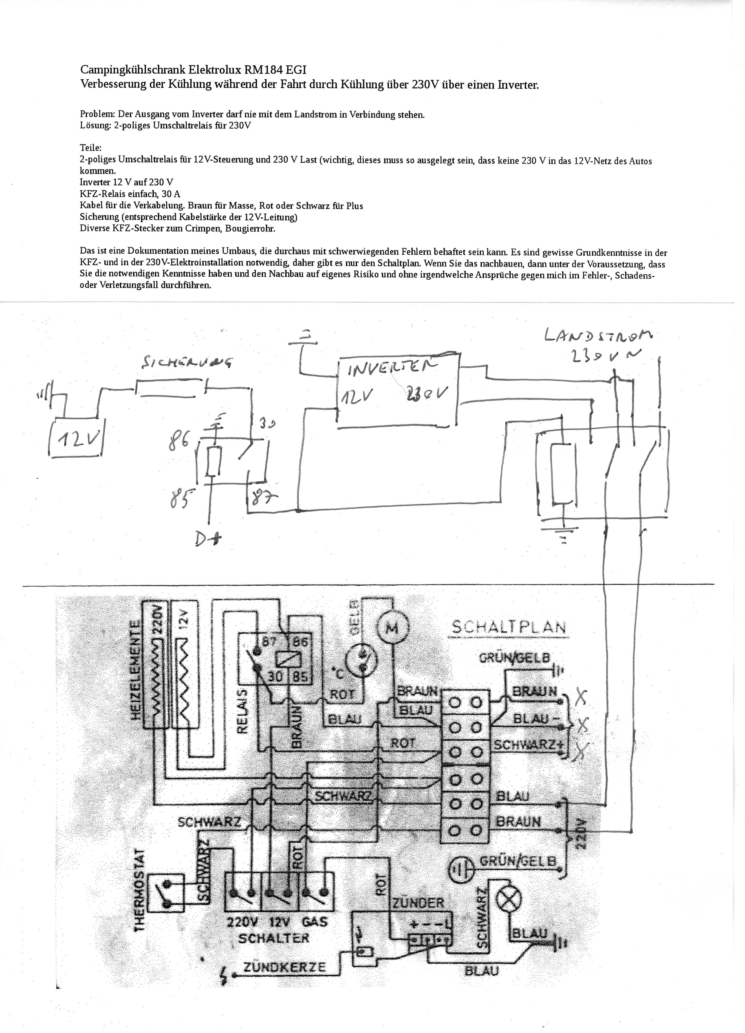 Elektrolux Rm 184 Egi Schaltplan - Allshouse Stephanie Blog